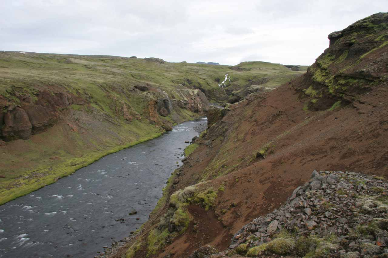 Distant view upstream towards what I believe to be Foss #21