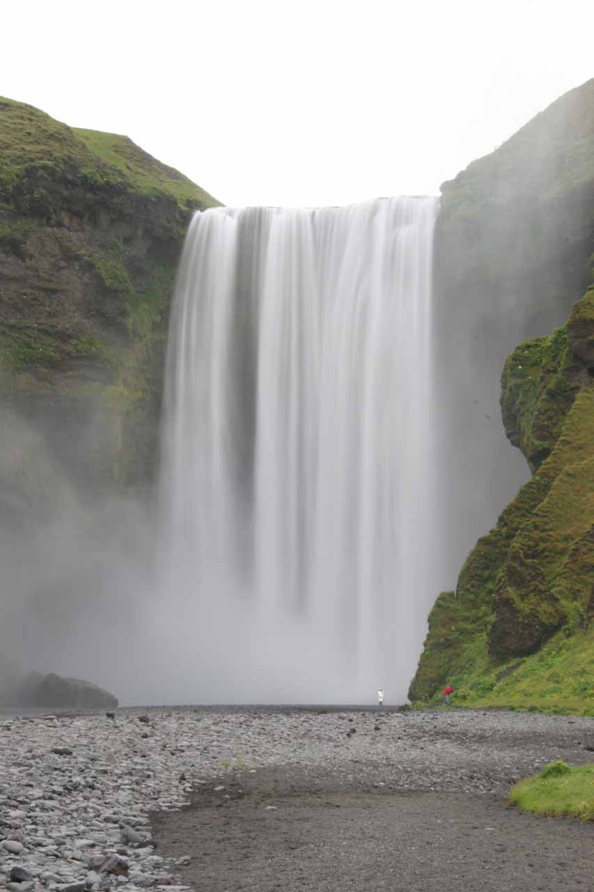 Folks right in front of Skogafoss