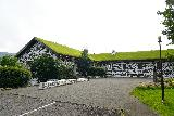 Skriduklaustur_002_08112021 - Looking towards the turf-roofed building of Skriduklaustur