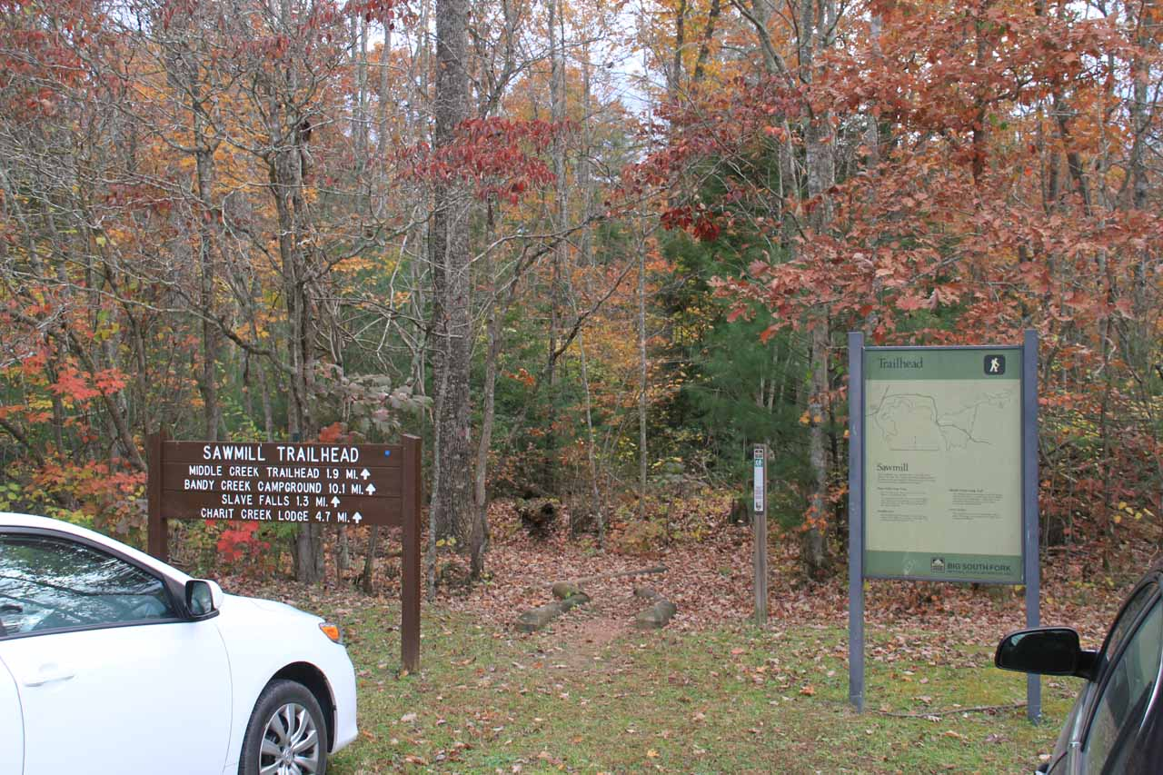 The Sawmill Trailhead