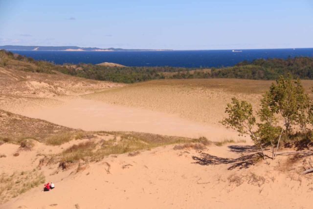 Sleeping_Bear_Dunes_135_10022015 - About 3 hours drive southwest of Mackinaw City was the Sleeping Bear Dunes near Traverse City on the shores of Lake Michigan. Not only were the dunes fun to climb, but the scenery was also very nice
