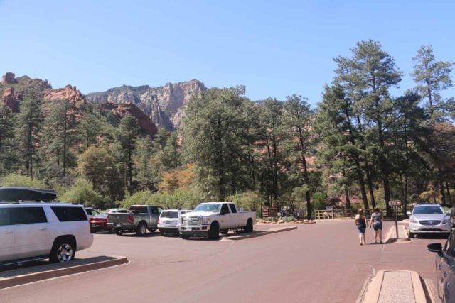 Slide_Rock_SP_003_04132017 - The parking lot for Slide Rock State Park