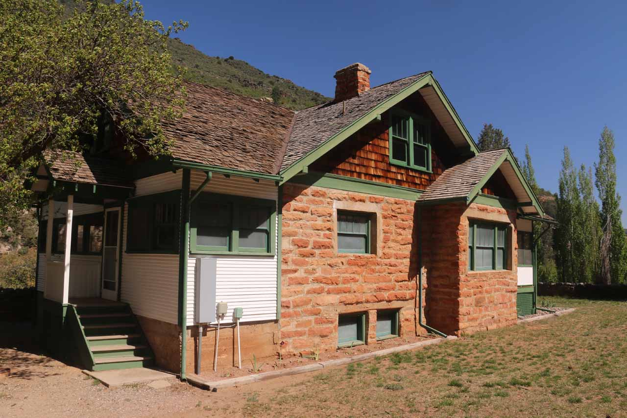 Another one of the historic buildings seen alongside the walkway to Slide Rock
