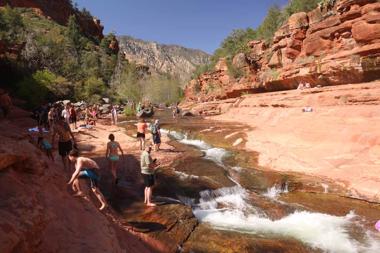 The cascade in Slide Rock State Park that also doubled as a little water slide