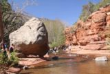 Slide_Rock_SP_066_04132017 - Further upstream of Slide Rock were more calmer parts of Oak Creek as well as some impressively large boulders