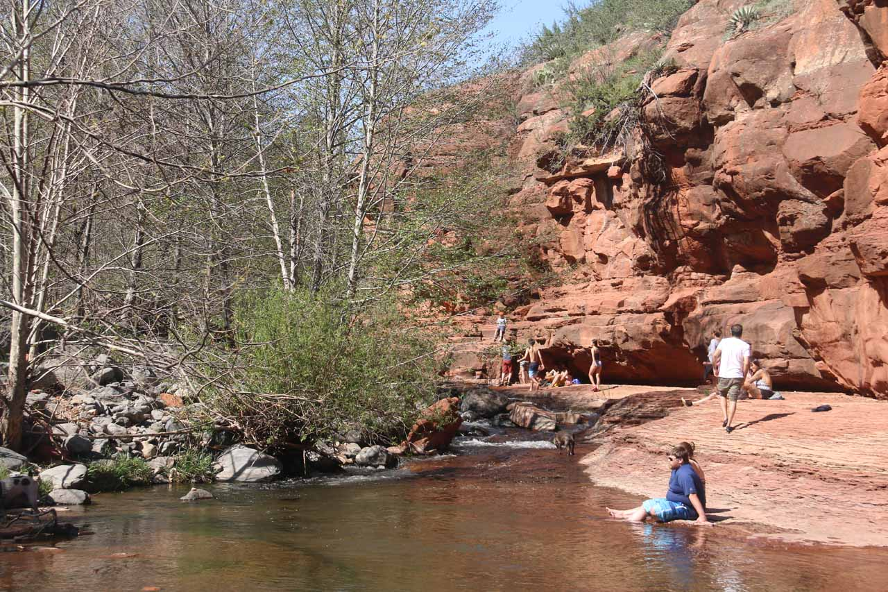 This tiny cascade further upstream of Slide Rock was as far as I went