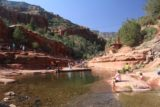 Slide_Rock_SP_121_04132017 - Contextual look upstream towards Slide Rock from the calm part of Oak Creek where we let our daughter play at in Slide Rock State Park