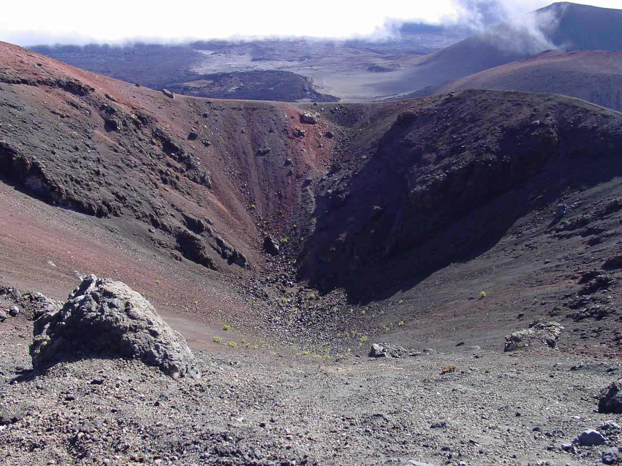 Amazing to think that further up the lush and rainy slopes of windward Haleakala was the dry and barren crater area of the volcano itself