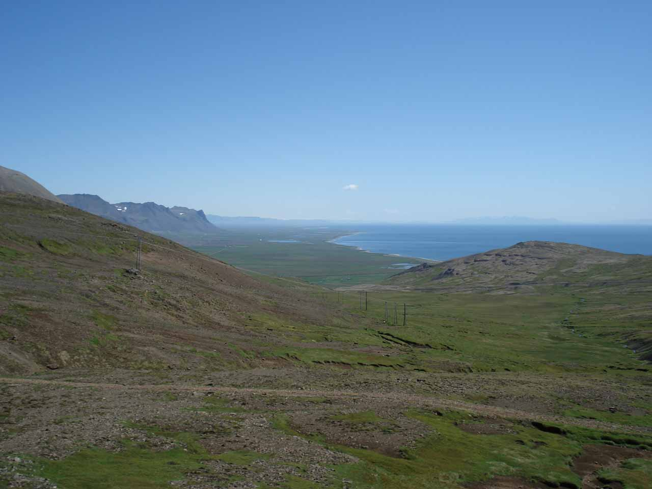 Looking back towards the southern side of the Snæfellsnes Peninsula while we were cutting across