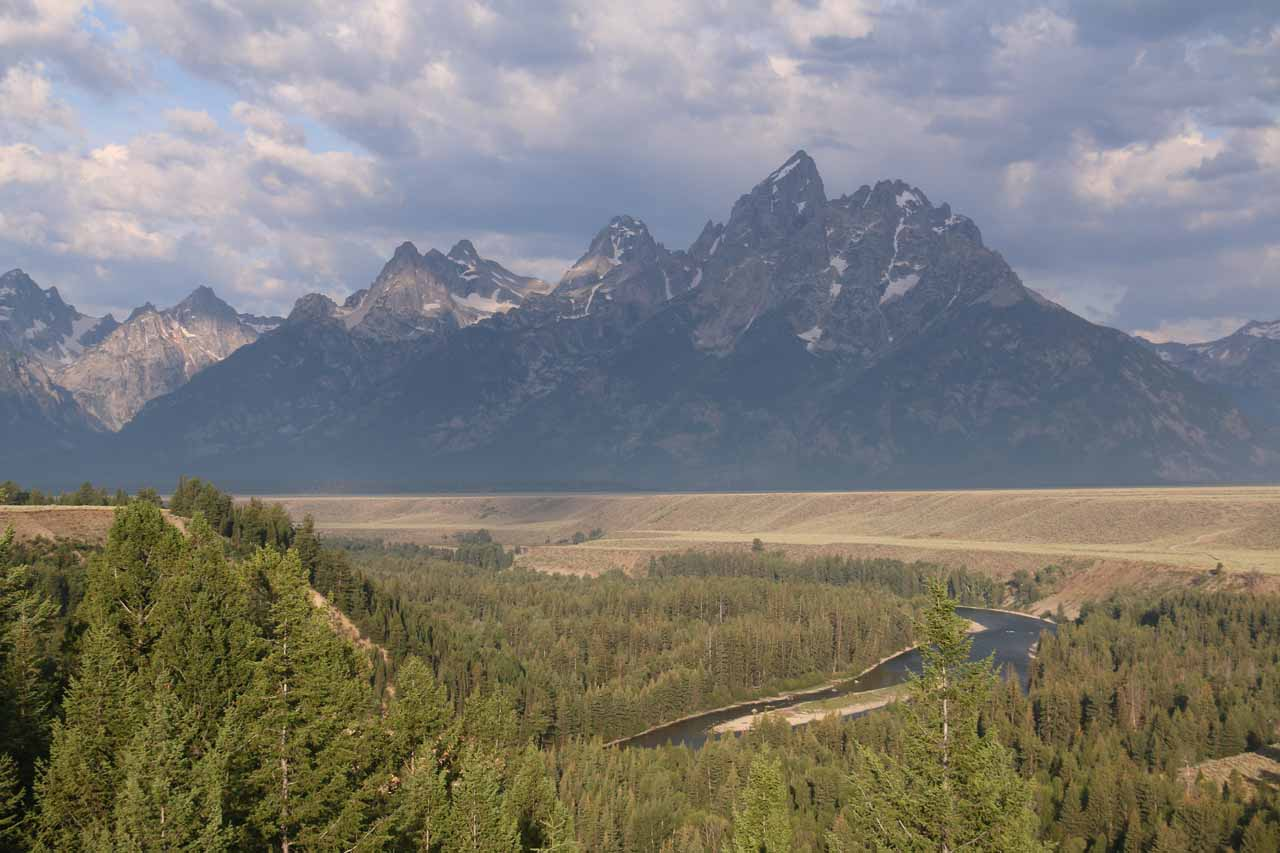 And if we went east from Idaho Falls instead of north to the Mesa Falls Scenic Byway, we would have entered the Grand Teton National Park from the south