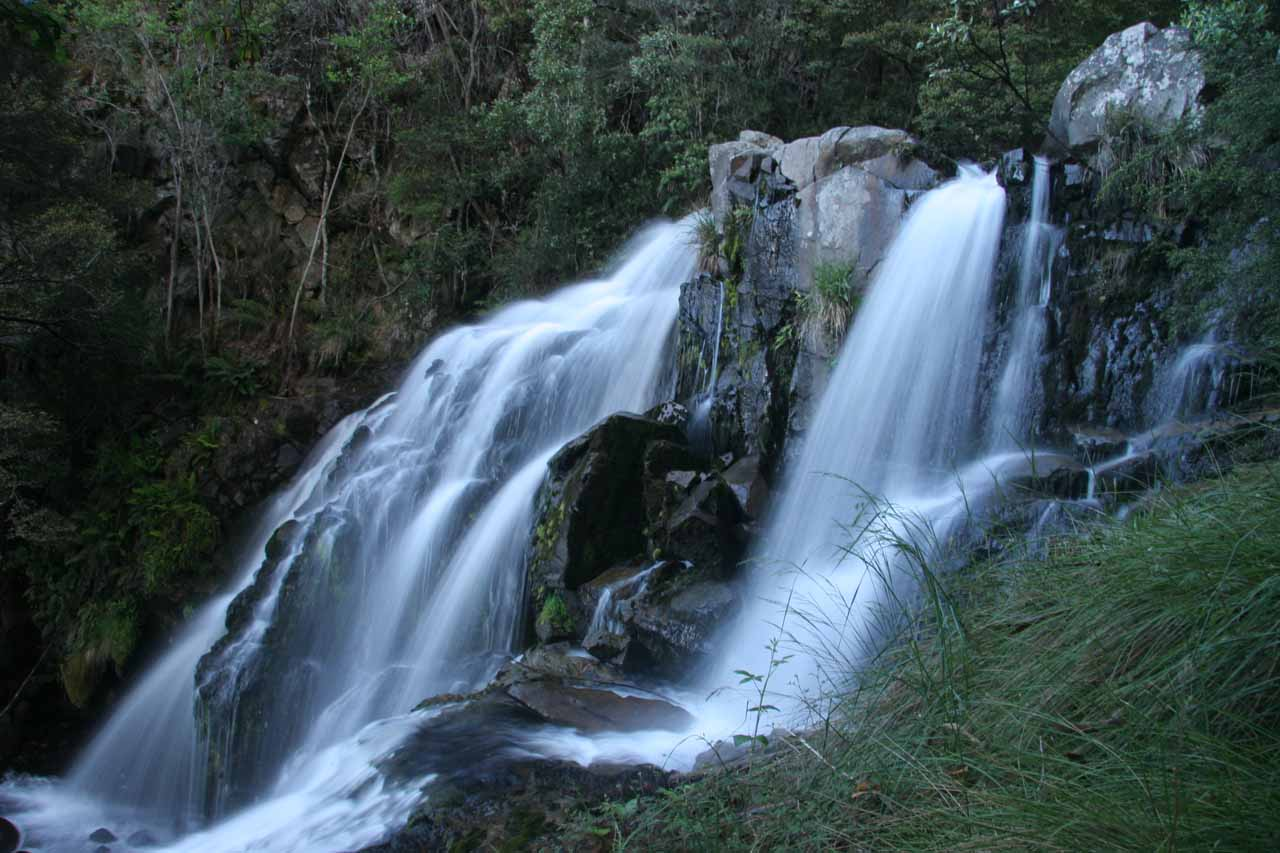 As a comparison, here's our first look at Snobs Creek Falls from back in November 2006