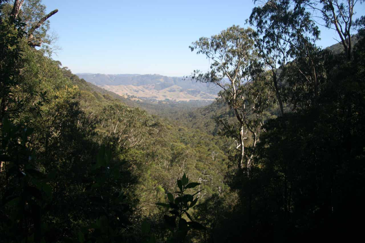 This was the view looking over the top of Snobs Creek Falls towards the Snobs Creek Valley from our first visit in November 2006