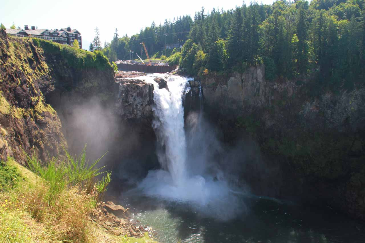 Snoqualmie Falls was the more famous waterfall in the area, thereby relegating Twin Falls to relative obscurity known more to locals and waterfall lovers