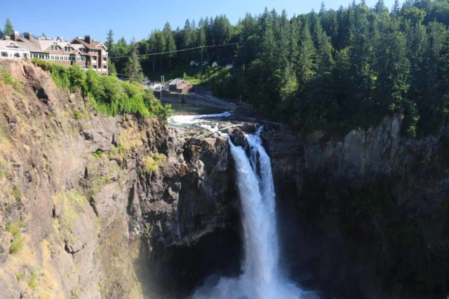 Snoqualmie_Falls_17_013_07292017 - Snoqualmie Falls and the Salish Lodge in the late afternoon on a warm Summer's day in 2017
