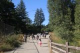Snoqualmie_Falls_17_073_07292017 - Tahia continuing to walk back towards the hydroelectricity relics on the walk from the lower lookout for Snoqualmie Falls in late July 2017