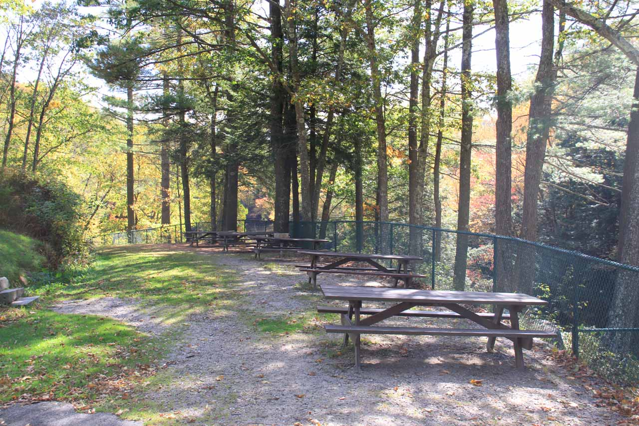 The picnic tables and fences here were what made this place seem like it was very family friendly
