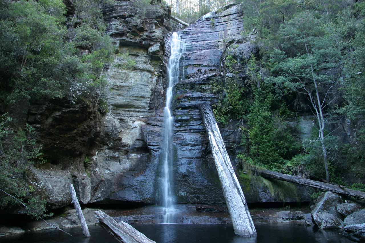 This was what Snug Falls looked like on our first visit back in late November 2006