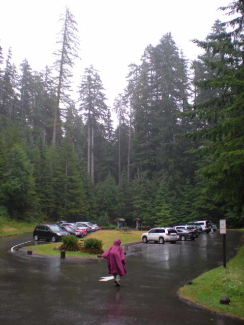 Sol_Duc_Falls_001_jx_08222011 - The parking lot at the trailhead for Sol Duc Falls
