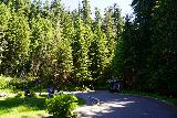 Sol_Duc_Falls_003_06222021 - Approaching the end of the parking lot and actual trailhead for Sol Duc Falls