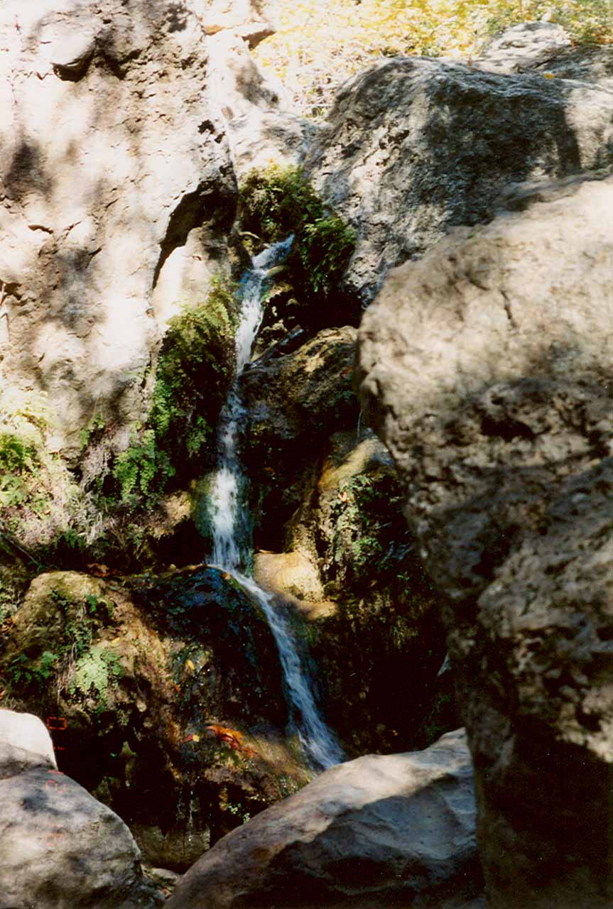 How Solstice Canyon Falls looked nearly 8 years ago