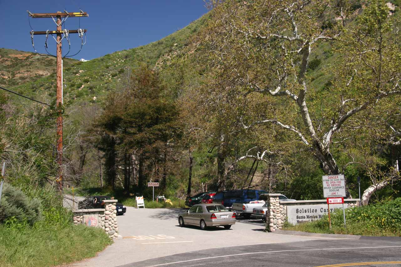Entrance to Solstice Canyon