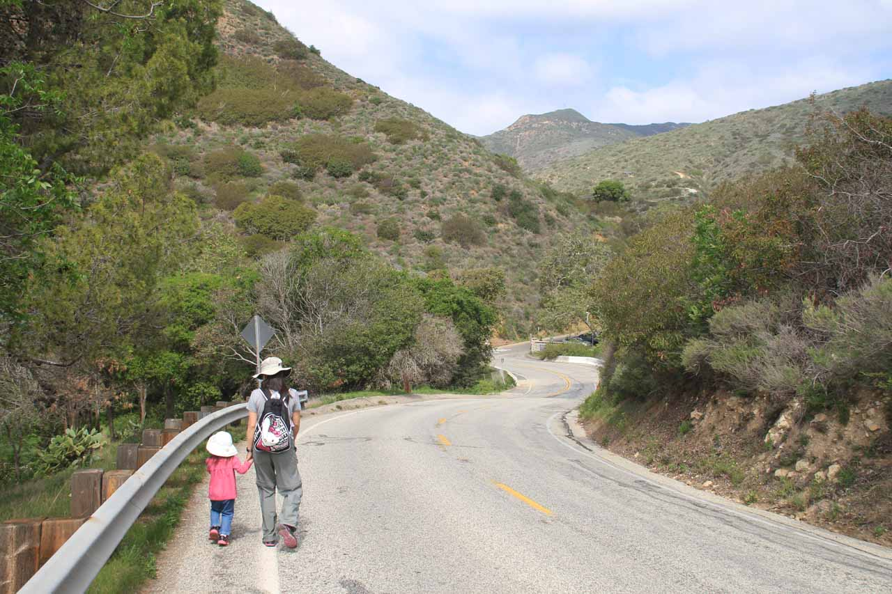 The turnoff for Solstice Canyon was now within sight at the bottom of the hill