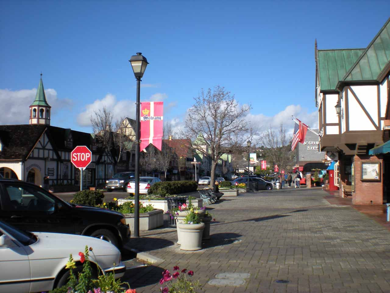 The charming downtown area of Solvang
