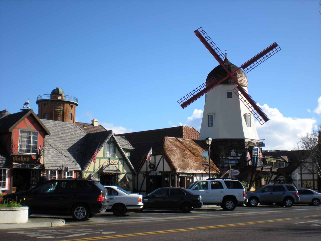 Close to Nojoqui Falls is the charming Danish town of Solvang