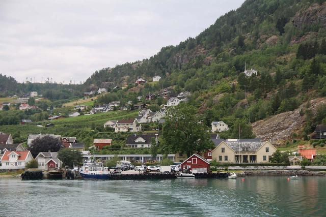 Solvorn_Urnes_ferry_001_07202019 - Looking back at the quaint fjordside town of Solvorn, which was right across from the Urnes Stave Church