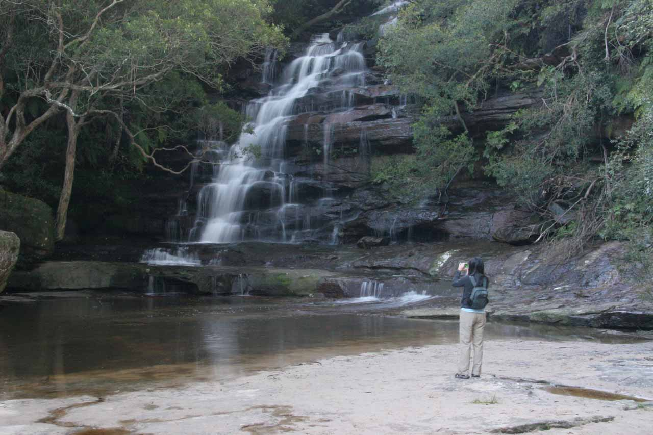 Julie checks out the Upper Somersby Falls