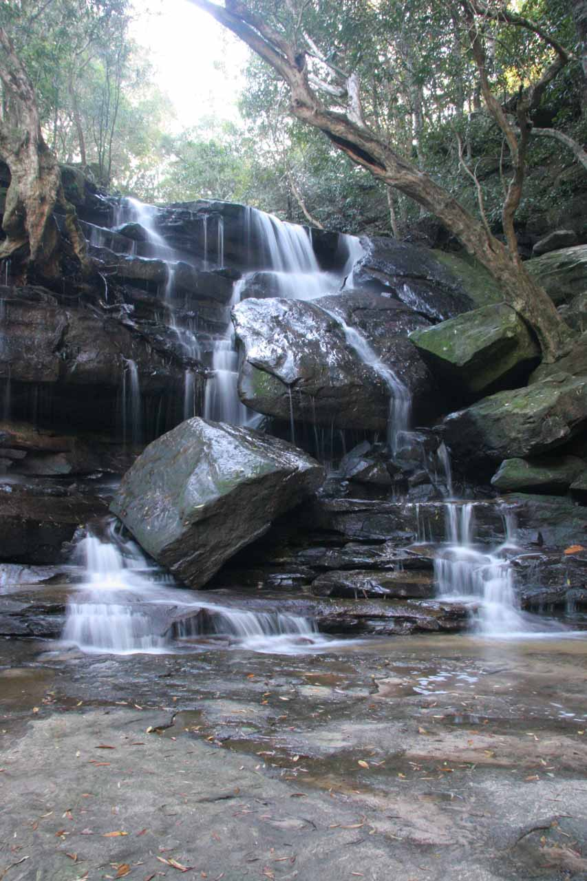 Direct look at the Lower Somersby Falls