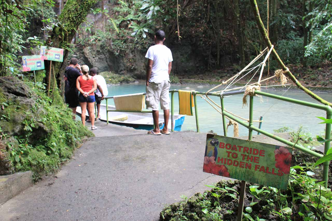The boat launching area