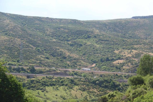 Somosierra_013_06052015 - Looking back at the busy highway between Madrid and Burgos as seen from the base of the Cascada de los Litueros