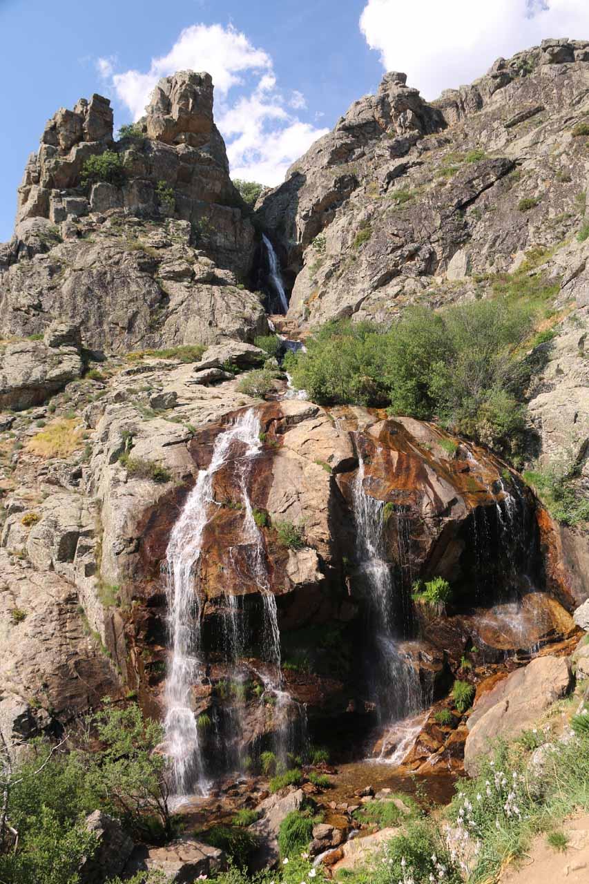 Direct look at the Cascada de Litueros or Chorro de Somosierra