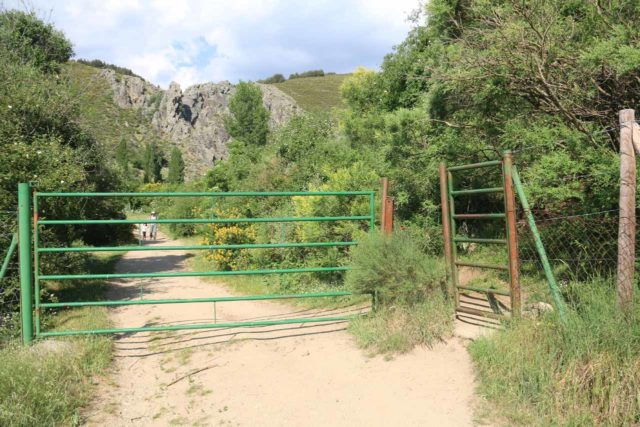 Somosierra_074_06052015 - Passing through some kind of barrier or gate as we walked along this narrow road in search of the Cascada de los Litueros