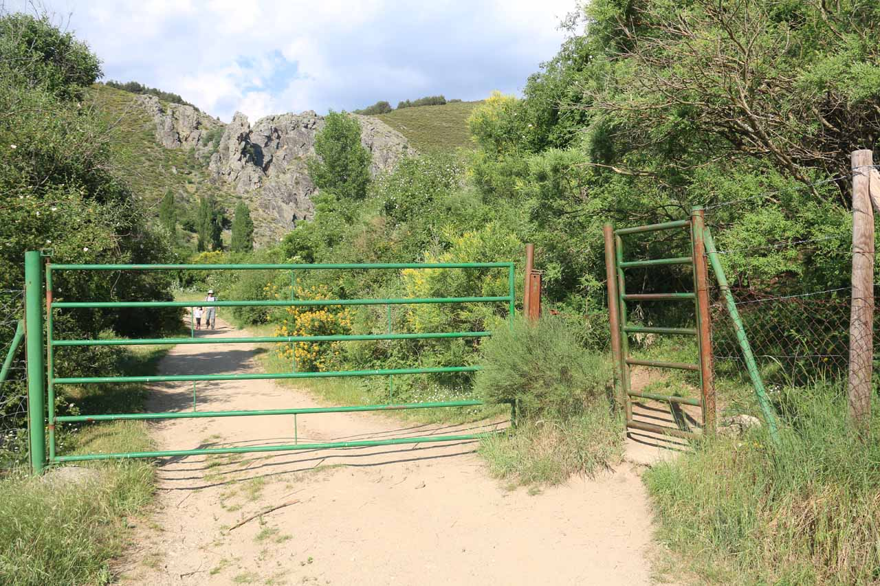 This was the unlocked gate that we had to pass through on the way to the Somosierra Waterfall