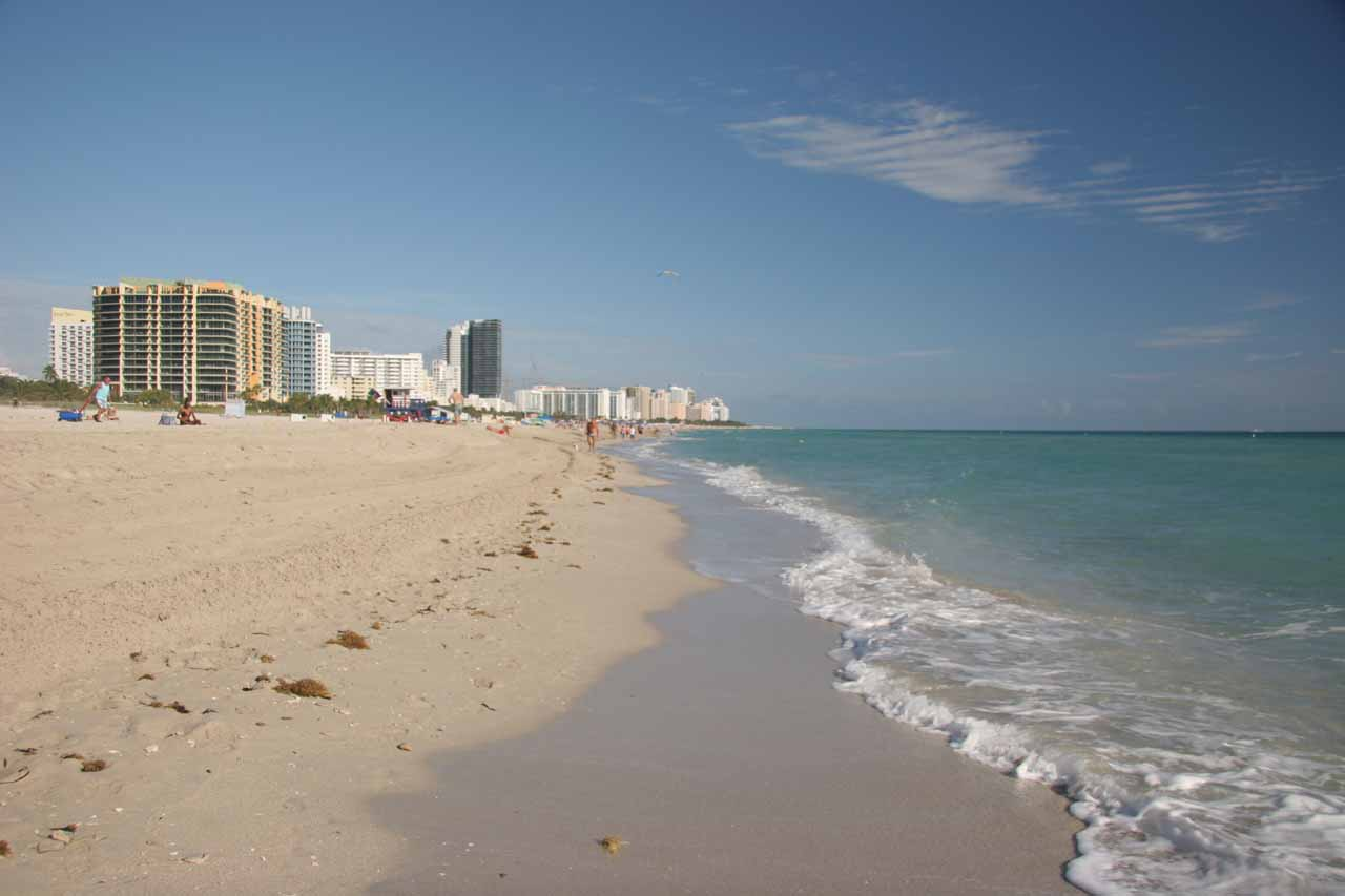 Miami's South Beach on a beautiful New Year's Eve