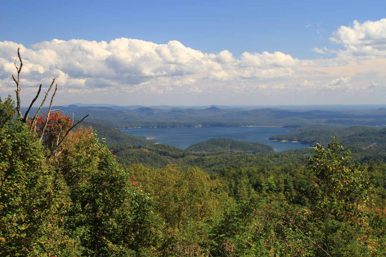 As we made the drive between King Creek Falls and Brevard, North Carolina, we passed by this view of Lake Jocassee right off the road as we approached the South Carolina-North Carolina border
