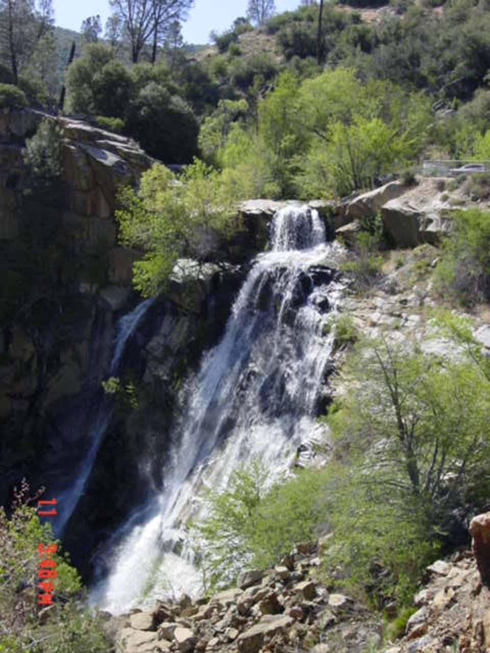 Big Roadside Waterfall By The Kern River