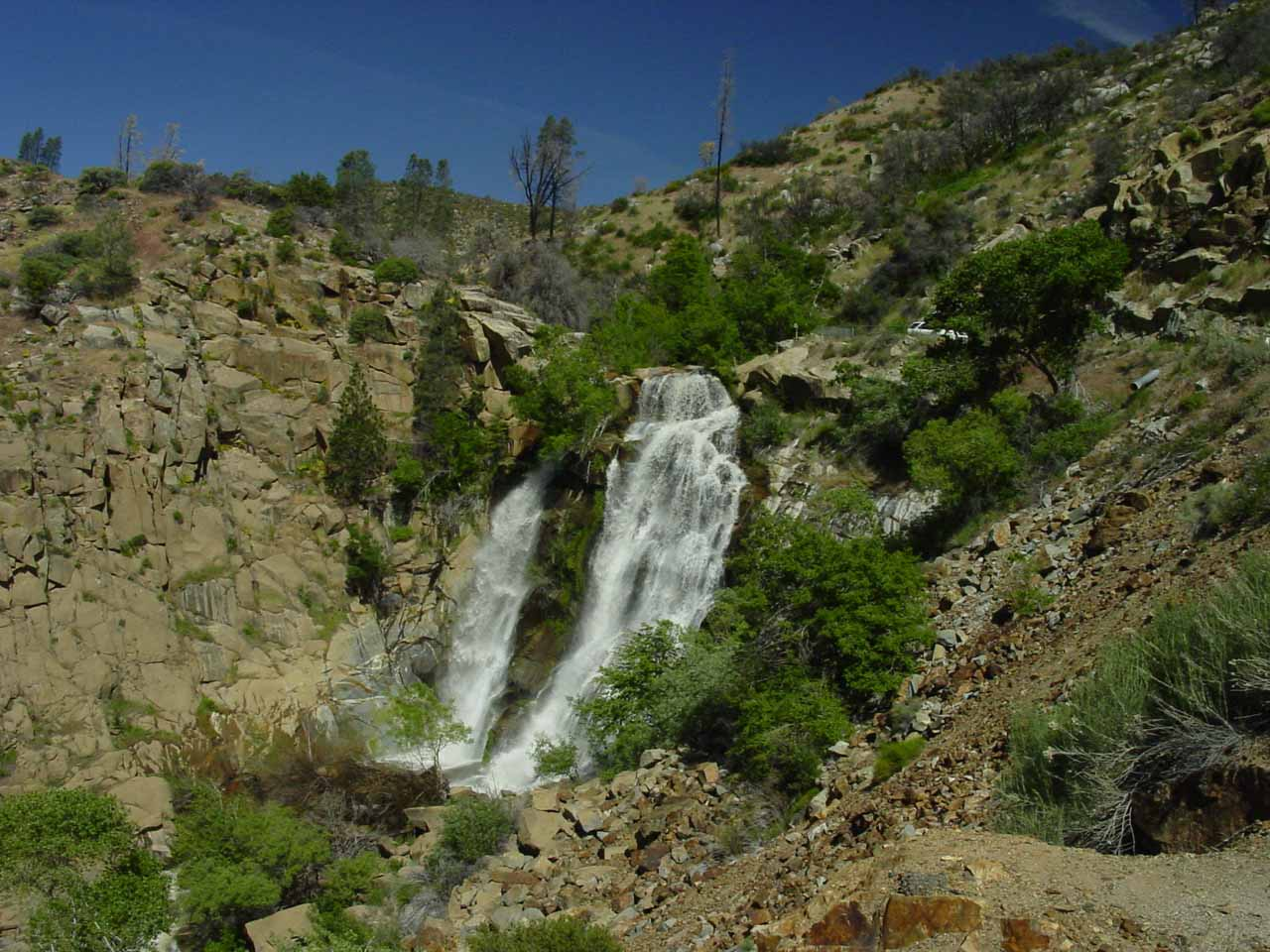 Contextual view of South Creek Falls in Spring of 2005