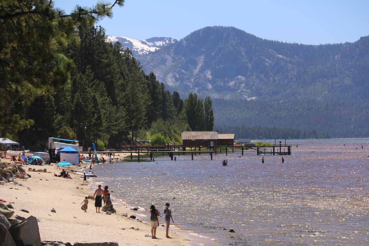 The main reason for driving along Hwy 50 was to head east to South Lake Tahoe, which was a favorite ski destination for Northern California residents though it was also happening in Summer as well
