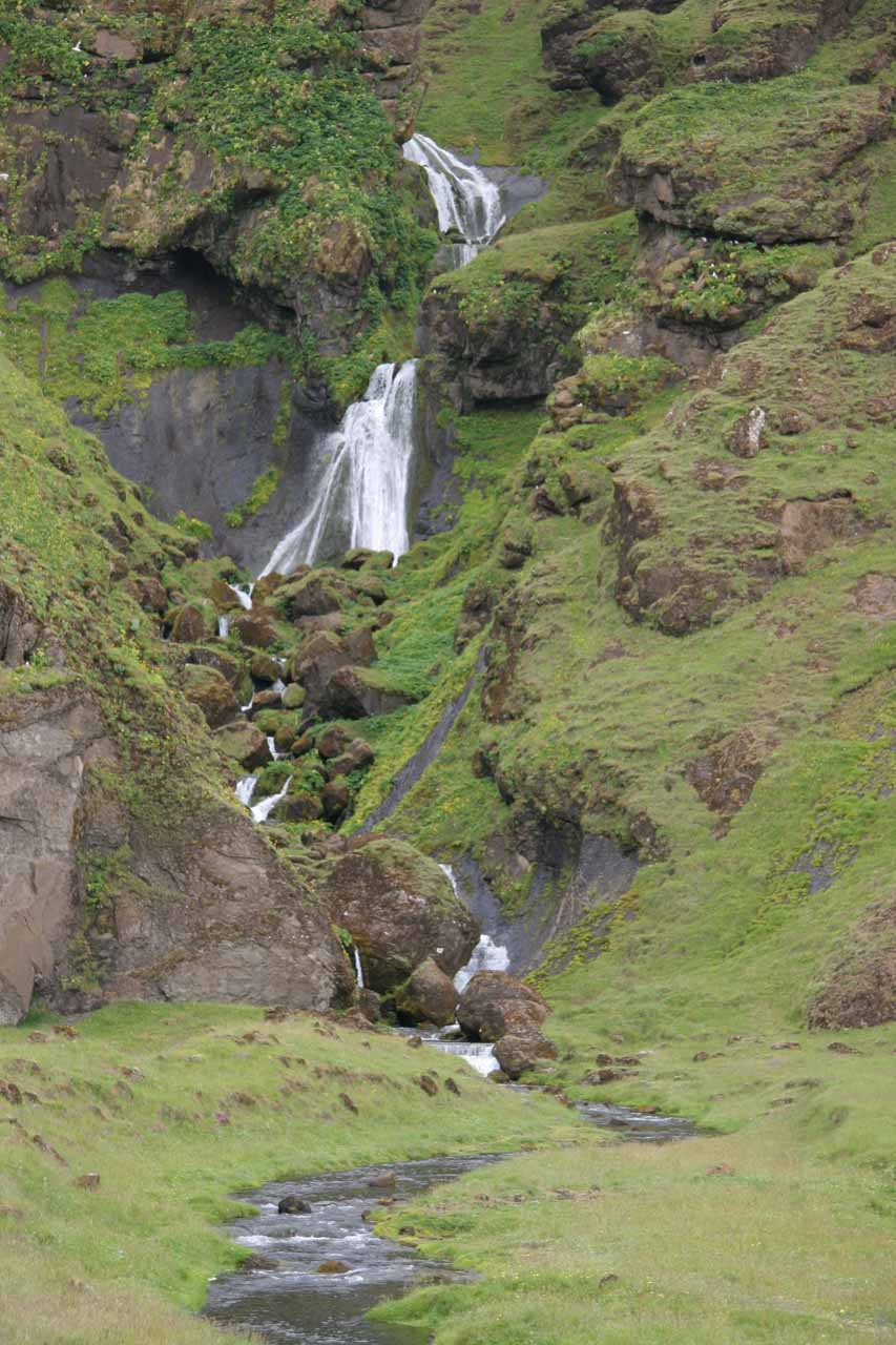 A closer look at the obscure waterfall seen on the Ring Road