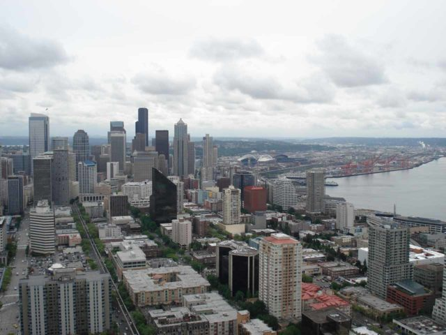 Space_Needle_011_jx_05252006 - One of those 'must-do' (albeit overly expensive) activities in Seattle was going up on the Space Needle for these views over the city