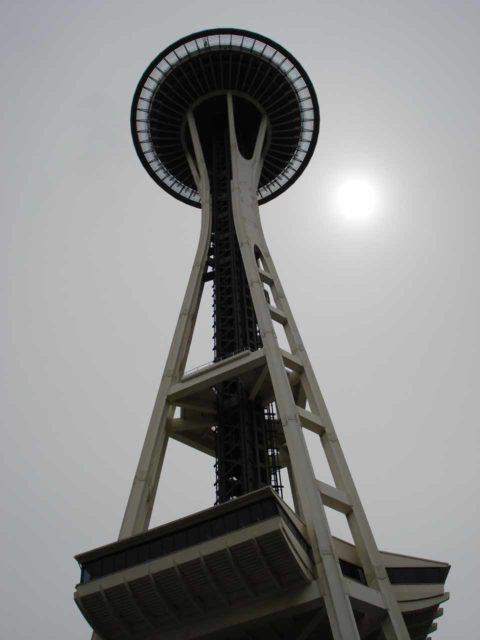 Space_Needle_022_jx_05252006 - One of Seattle's most iconic landmarks is the Space Needle, which is pictured here from the bottom. I'll leave it up to you to decide if it's worth overpaying to go up