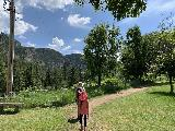 Spearfish_Canyon_108_iPhone_07302020 - Julie and Tahia making it back up to the fenced trail that went by the Latchstring Restaurant