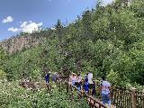 Spearfish_Canyon_180_iPhone_07302020 - The main lookout for Roughlock Falls got real busy when we left