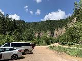 Spearfish_Canyon_187_iPhone_07302020 - Looking back at the nearest parking area for Roughlock Falls