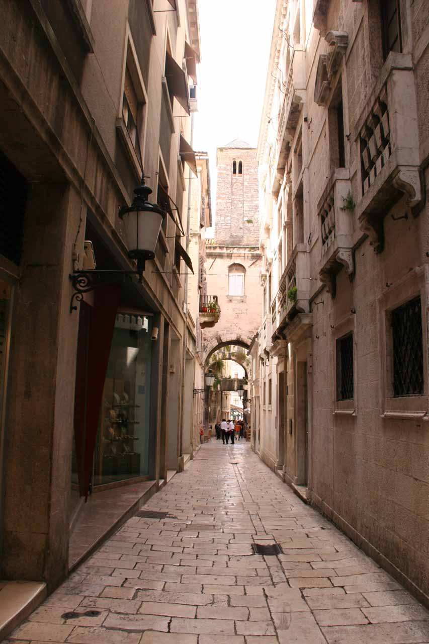 The charming streets of Split