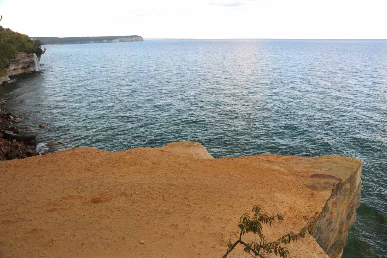 This was the context of the outcrop representing the lookout for Spray Falls