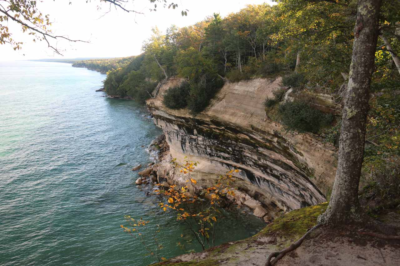 This was one of many scenic spots to see the cliffs along the Lake Superior shore while hiking the North County Trail